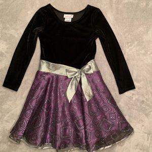 Black and Purple Sparkle Dress